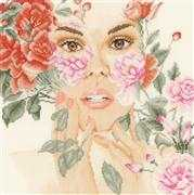 Lanarte Floral Veil - Evenweave Cross Stitch Kit