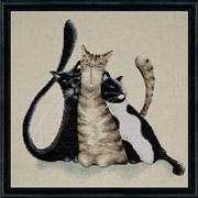 Kitty Trio - Design Works Crafts Cross Stitch Kit