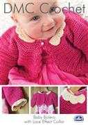Baby Bolero with Lace Effect Collar