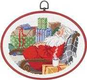 Sleeping Santa - Permin Cross Stitch Kit