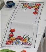 Tulip and Iris Runner - Permin Cross Stitch Kit