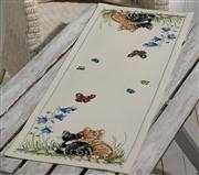 Kittens Runner - Permin Cross Stitch Kit