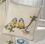Bluetits Cushion - Permin Cross Stitch Kit