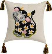 Cow Cushion - Permin Cross Stitch Kit