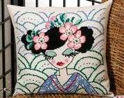Japanese Blue Cushion - Permin Cross Stitch Kit