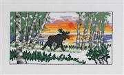 Winter Moose - Permin Cross Stitch Kit