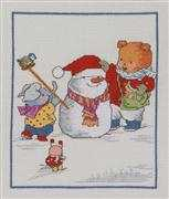 Bobbi Bear Winter - Permin Cross Stitch Kit