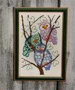 Owl Trio - Permin Cross Stitch Kit