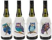 Owl Wine Aprons - Permin Cross Stitch Kit