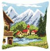 Vervaco Alpine Village Cushion Cross Stitch Kit
