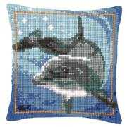 Dolphin Cushion - Vervaco Cross Stitch Kit