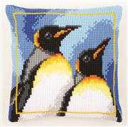 Vervaco King Penguins Cushion Cross Stitch Kit