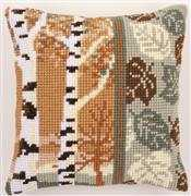 Birch Trees Cushion - Vervaco Cross Stitch Kit