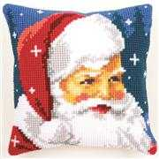 Vervaco Kind Santa Cushion Christmas Cross Stitch Kit