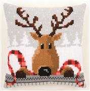 Reindeer Cushion - Vervaco Cross Stitch Kit