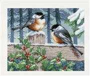 Winter Bluetits - Vervaco Cross Stitch Kit