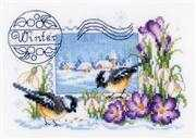 Vervaco Winter Postcard Christmas Cross Stitch Kit
