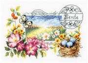 Vervaco Spring Postcard Cross Stitch Kit