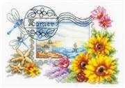 Vervaco Summer Postcard Cross Stitch Kit