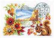 Vervaco Autumn Postcard Cross Stitch Kit