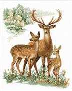RIOLIS Deer Family Cross Stitch Kit