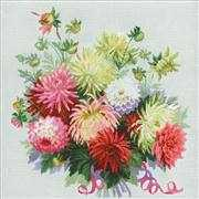 RIOLIS Dahlias Cross Stitch Kit