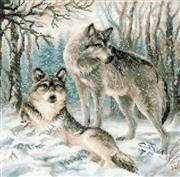 RIOLIS Pair of Wolves Cross Stitch Kit