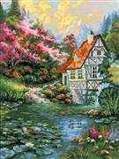 RIOLIS Water Mill Cross Stitch Kit