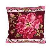 Collection D'Art Romantic Rose 1 Cushion Cross Stitch Kit