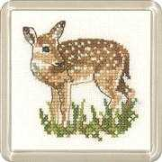 Heritage Fawn Coaster Cross Stitch Kit