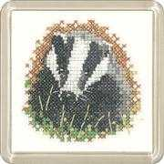 Badger Coaster - Heritage Cross Stitch Kit