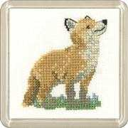 Fox Cub Coaster - Heritage Cross Stitch Kit