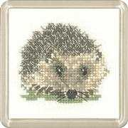 Hedgehog Coaster - Heritage Cross Stitch Kit