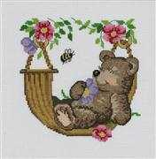 Bear in Hammock - Permin Cross Stitch Kit