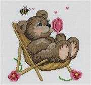 Summertime Bear - Permin Cross Stitch Kit
