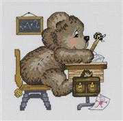 School Bear - Permin Cross Stitch Kit