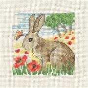 Permin Hare Cross Stitch Kit