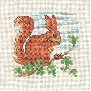 Squirrel - Permin Cross Stitch Kit