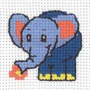 Elephant - Permin Cross Stitch Kit