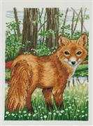 Fox - Aida - Permin Cross Stitch Kit