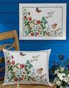 Summer Strawberries - Permin Cross Stitch Kit