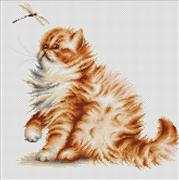 Kitten and Dragonfly - Luca-S Cross Stitch Kit