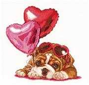 Valentine's Puppy - Thea Gouverneur Cross Stitch Kit