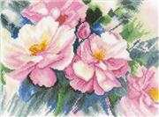 Beautiful Roses - Evenweave - Lanarte Cross Stitch Kit