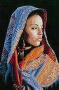 Lanarte African Lady Cross Stitch Kit