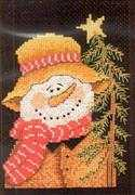Mister Snowman - Bobbie G Designs Cross Stitch Kit