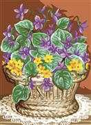 Basket of Violets - Royal Paris Tapestry Canvas