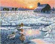 Winter Morning - Dimensions Cross Stitch Kit