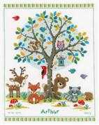 Woodland Birth Record - Vervaco Cross Stitch Kit