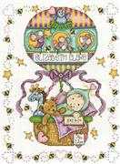 Design Works Crafts Balloon Ride Birth Sampler Cross Stitch Kit